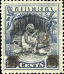 [Stamps of 1909 Surcharged, type CB]