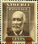 [Stamps of 1909 Surcharged, type CF]