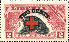 [Red Cross - No. 213-225 Surcharged, type EG1]