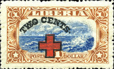 [Red Cross - No. 213-225 Surcharged, type EG10]