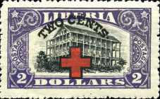 [Red Cross - No. 213-225 Surcharged, type EG11]