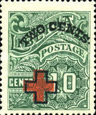 [Red Cross - No. 213-225 Surcharged, type EG3]