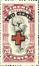 [Red Cross - No. 213-225 Surcharged, type EG5]