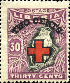[Red Cross - No. 213-225 Surcharged, type EG7]