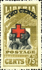 [Red Cross - No. 213-225 Surcharged, type EG9]