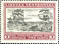 [The 100th Anniversary of the Landing of the First Settlers at Cape Mesurado, type FA1]