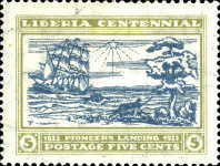 [The 100th Anniversary of the Landing of the First Settlers at Cape Mesurado, type FA2]