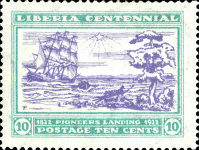 [The 100th Anniversary of the Landing of the First Settlers at Cape Mesurado, type FA3]