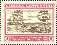 [The 100th Anniversary of the Landing of the First Settlers at Cape Mesurado, type FA4]