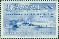 [Airmail - Visit of President Tubman to U.S.A., type HU]