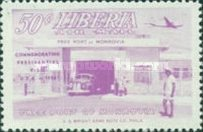 [Airmail - Visit of President Tubman to U.S.A., type HW]