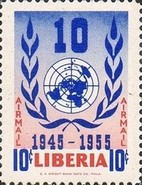 [Airmail - The 10th Anniversary of the United Nations, type IL]