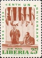 [Airmail - The 10th Anniversary of the United Nations, type IN]