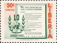 [Airmail - The 10th Anniversary of the United Nations, type IO]