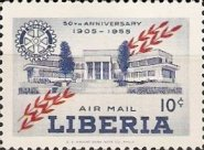 [Airmail - The 50th Anniversary of Rotary International, type IQ]