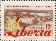 [Airmail - The 50th Anniversary of Rotary International, type IR]