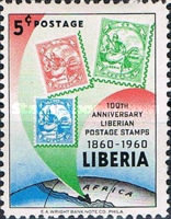 [The 100th Anniversary of Stamps in Liberia, type KW]