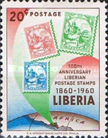[The 100th Anniversary of Stamps in Liberia, type KW1]