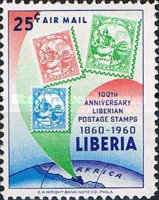 [Airmail - The 100th Anniversary of Stamps in Liberia, type KW2]