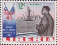 [Airmail - Visit of President Tubman to the United States of America, type LO]