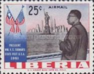[Airmail - Visit of President Tubman to the United States of America, type LO1]