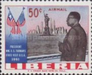 [Airmail - Visit of President Tubman to the United States of America, type LO2]