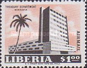 [Airmail - Government Buildings in Monrovia, type LT1]