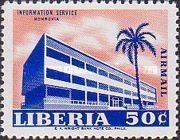 [Airmail - Government Buildings in Monrovia, type LU1]