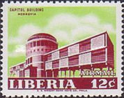 [Airmail - Government Buildings in Monrovia, type LV1]