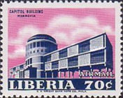 [Airmail - Government Buildings in Monrovia, type LV2]
