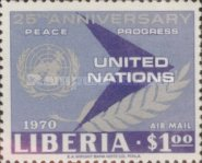 [Airmail - The 25th Anniversary of the United Nations, type QY]
