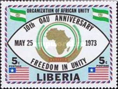 [The 10th Anniversary of Organization of African Unity, type VY1]