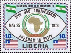 [The 10th Anniversary of Organization of African Unity, type VY2]