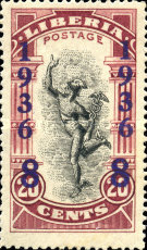 [No. 214-218 & 220-225 Surcharged, type XGB4]
