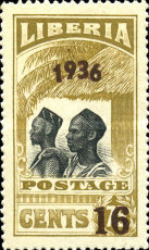 [No. 214-218 & 220-225 Surcharged, type XGB7]