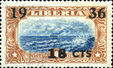 [No. 214-218 & 220-225 Surcharged, type XGB8]