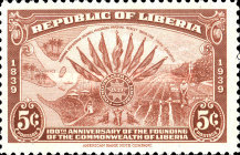 [The 100th Anniversary of the Founding of Liberia, type XGV]