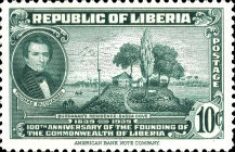 [The 100th Anniversary of the Founding of Liberia, type XGW]
