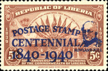 [The 100th Anniversary (1940) of the First Postage Stamps - No. 369-371 Overprinted, type XGX1]