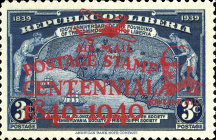 [Airmail - The 100th Anniversary (1940) of the First Postage Stamps - No. 369-371 Overprinted, type XGY]