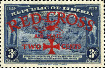 [Airmail - Red Cross - No. 369-371 Surcharged, type XHA]
