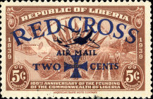 [Airmail - Red Cross - No. 369-371 Surcharged, type XHA1]