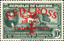 [Airmail - Red Cross - No. 369-371 Surcharged, type XHA2]