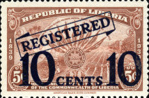 [Registered Mail - No. 373 Surcharged, type XHD]