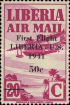 [Airmail - No. 359-368 Surcharged, type XHF6]
