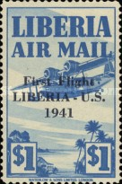 [Airmail - No. 359-368 Surcharged, type XHF9]