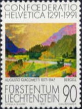 [The 700th Anniversary of Confoederatio Helvetica - Swiss Paintings, Typ AJK]