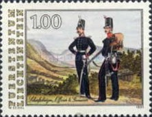 [The Last Action of the Royal Military Contigents of Liechtenstein 1866, Typ AJO]