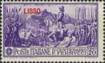 "[Italian Occupation- Italian Postage Stamps No. 308-312 Overprinted ""LISSO"", type H]"