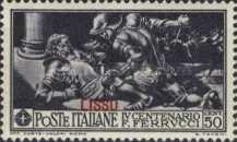 "[Italian Occupation- Italian Postage Stamps No. 308-312 Overprinted ""LISSO"", type I1]"